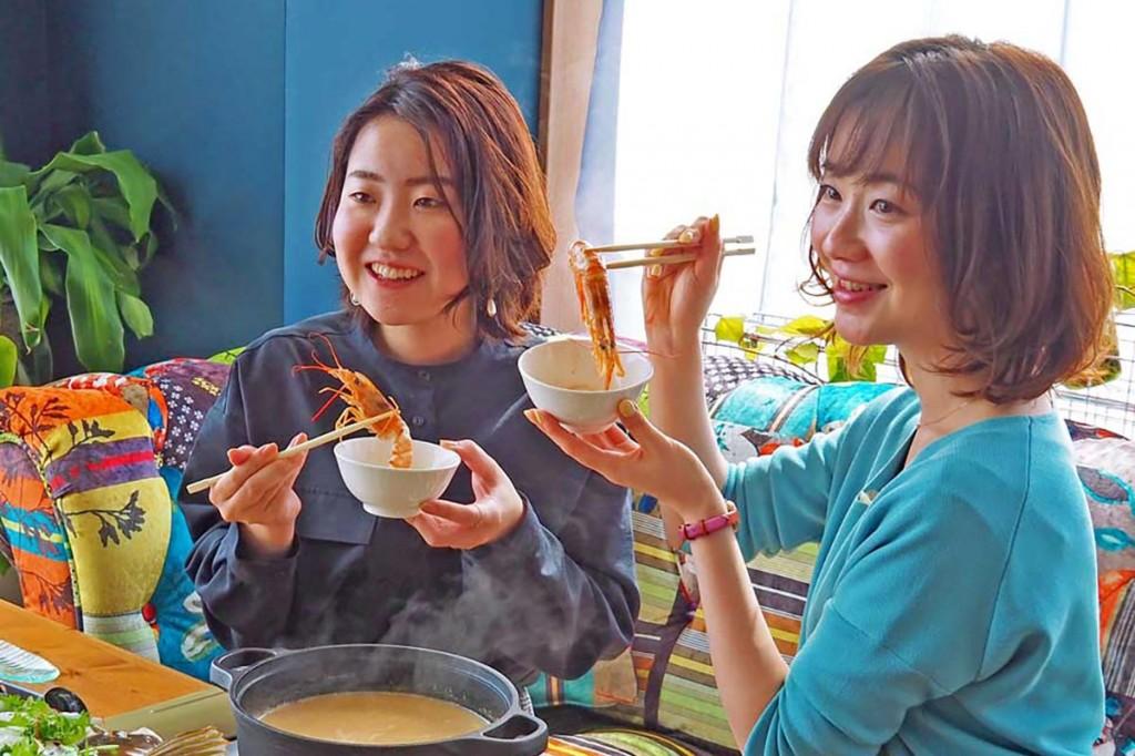 ウニの風味を鍋料理に「うにしゃぶ」試作発表会〜ぜいたくしたい時にどうぞ、 麺や雑炊 締めのメニューも