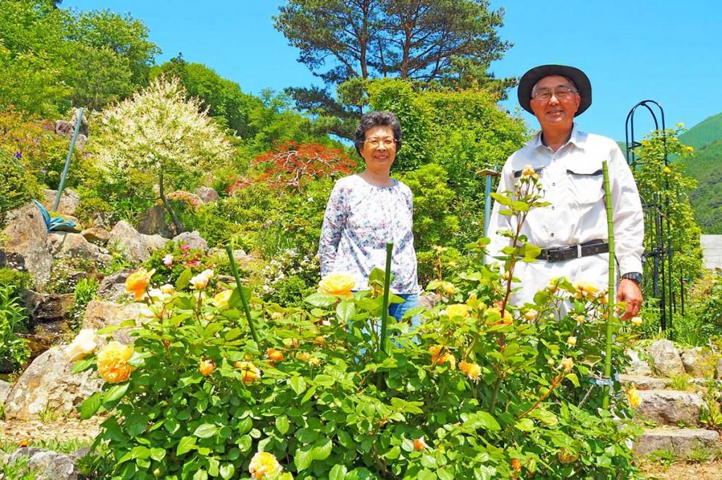 色鮮やかに咲き誇るバラなどが楽しめる「陽子ガーデン」