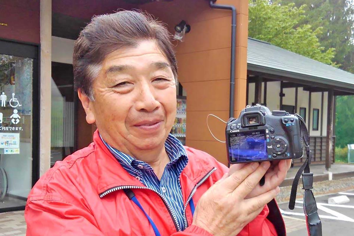 ツキノワグマの写真を撮影した三浦勉さん