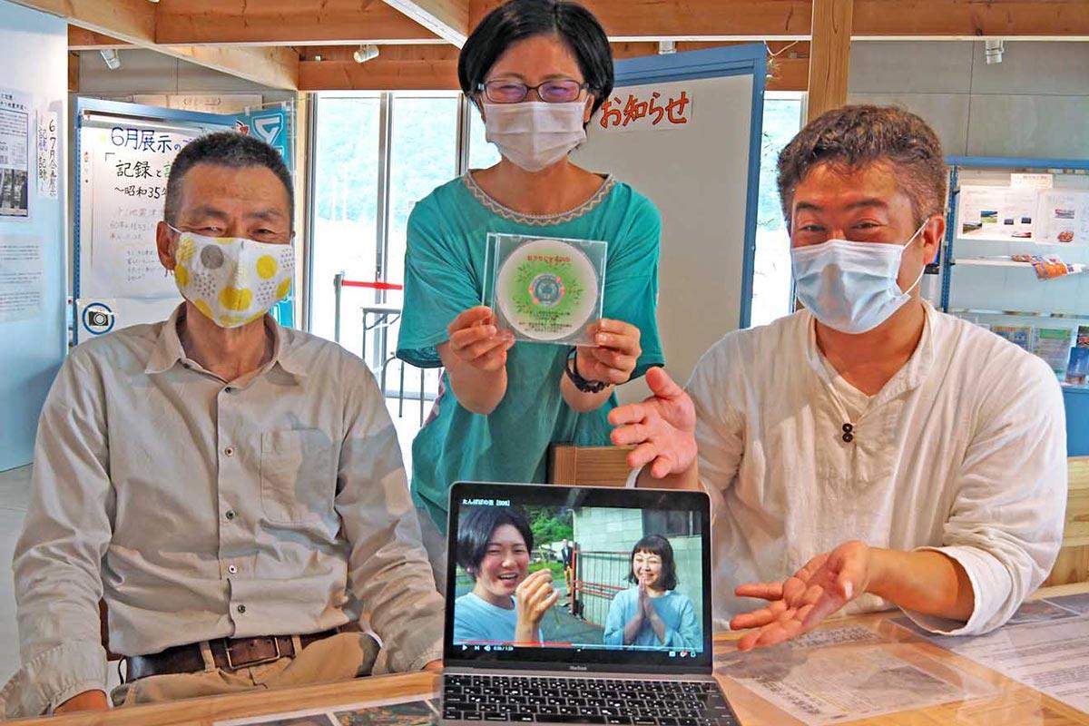 新型コロナウイルス感染症の予防動画「おうちじかん」をPRする連合岩手とさんつな関係者