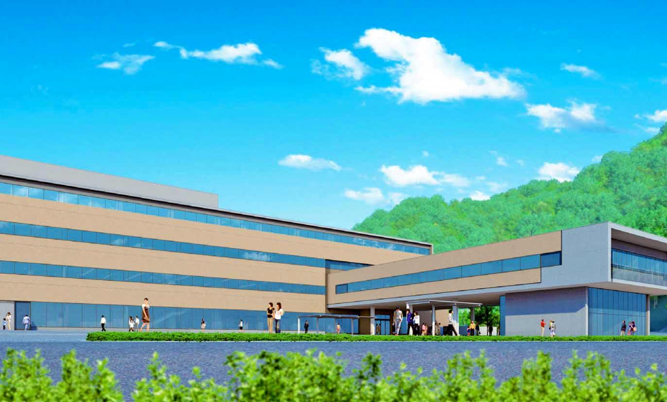 釜石市の新庁舎外観イメージ図