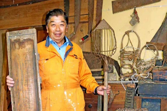 江戸から昭和の暮らし物語る、生活用具や作業具公開〜橋野鉄鉱山の絵図に登場する道具も、橋野出身三浦さん