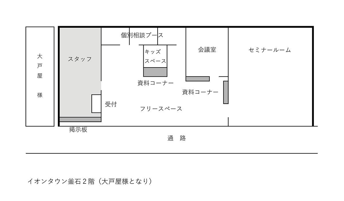 しごと・くらしサポートセンターフロアー図