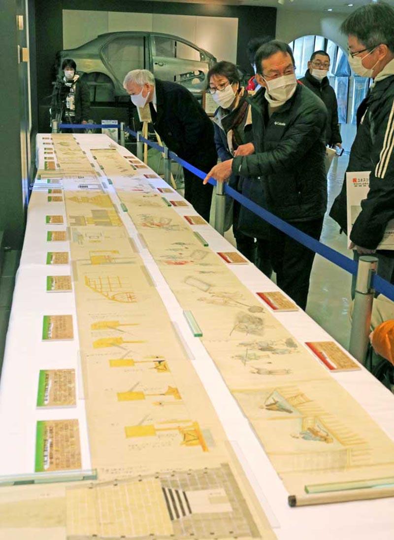 鉄の歴史館で行われた絵巻の一般公開