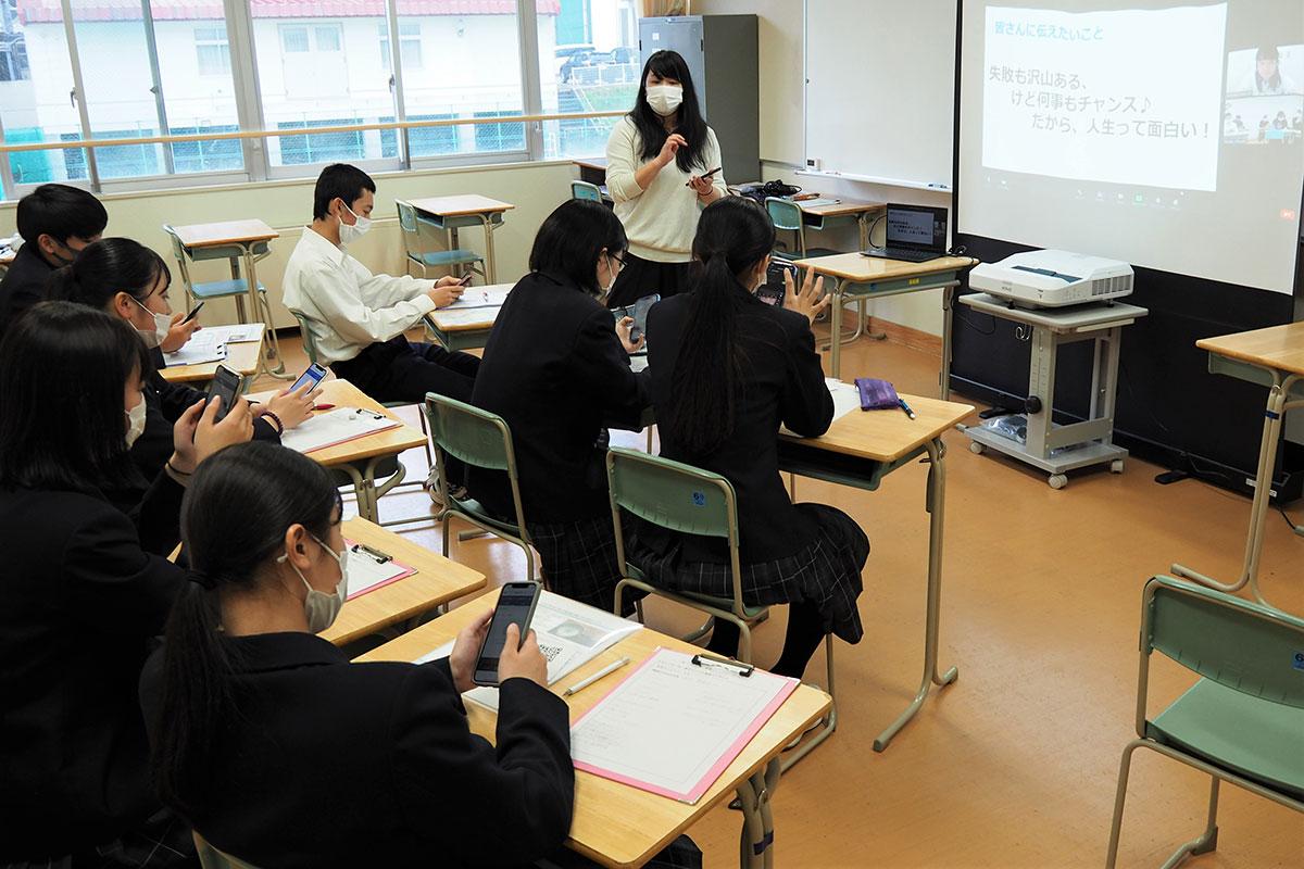 オンライン講座を取り入れて行われた釜石コンパス