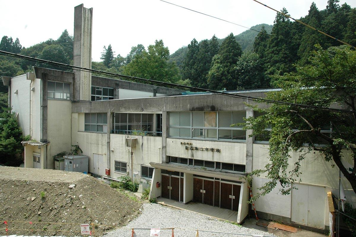 旧釜石二中の校舎。2013年に解体された