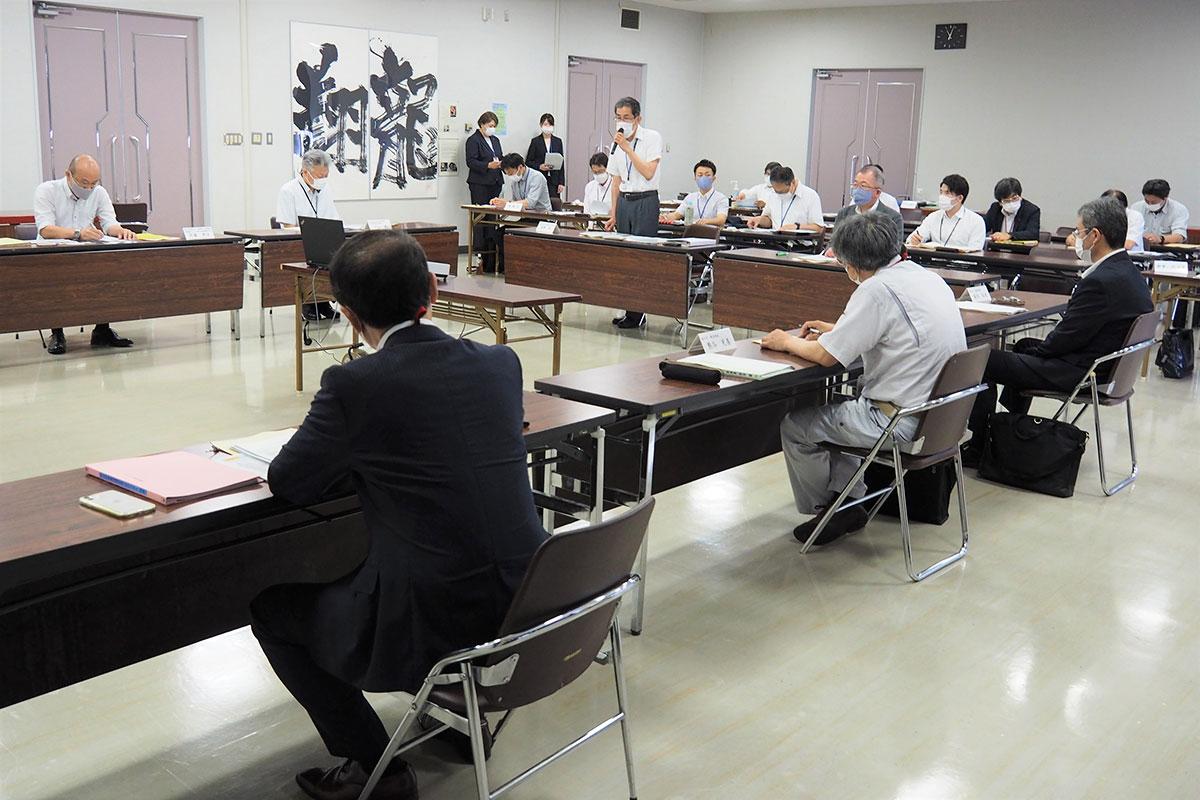 初会合を開いた甲子川水系流域治水協議会