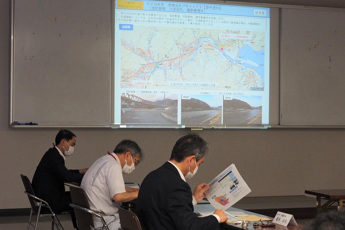 関係機関が進める治水対策について情報を共有した