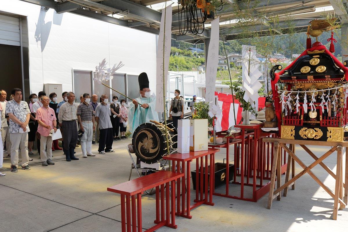 小白浜漁港で行われた西宮神社の例祭神事
