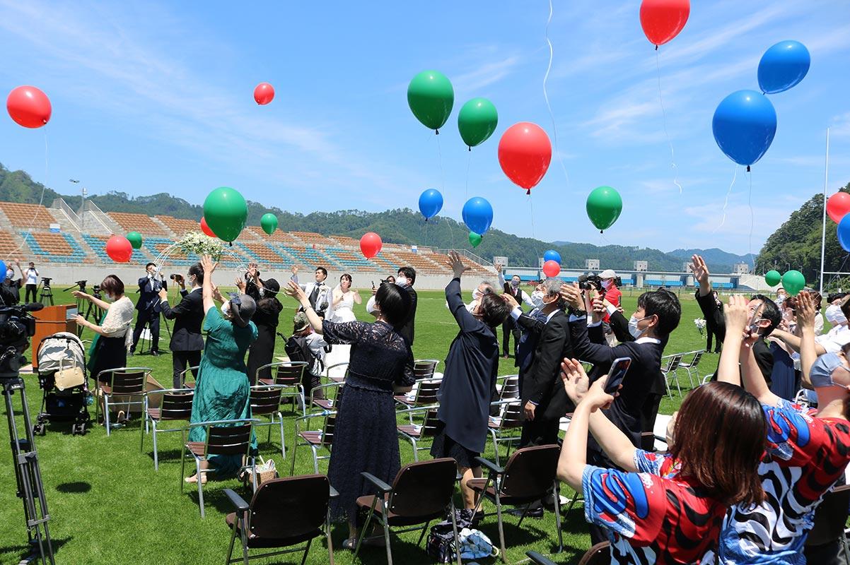結婚式という1つのモデルができ、新たな活用に期待が高まる釜石鵜住居復興スタジアム