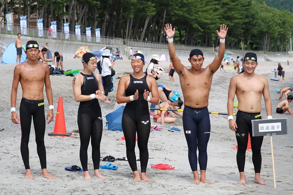 競技力強化のため、釜石大会に参加した世界ジュニア選手権日本代表選手ら