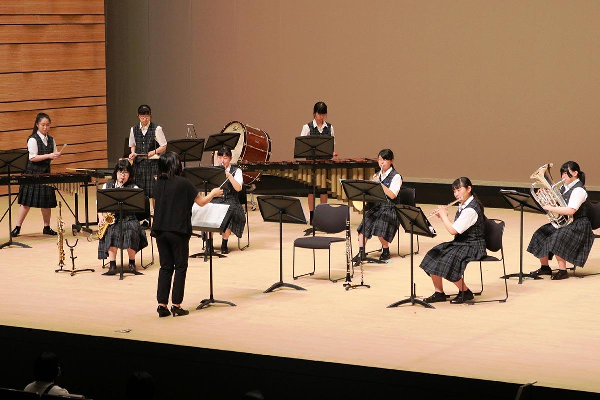 2年ぶりに演奏会を開いた釜石商工高吹奏楽部