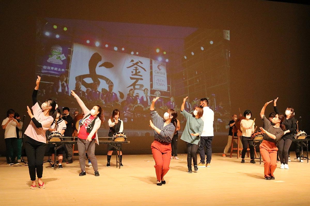 オンライン配信「みんなで踊ろう!よいさLIVE」に向けたリハーサル=1日・TETTO